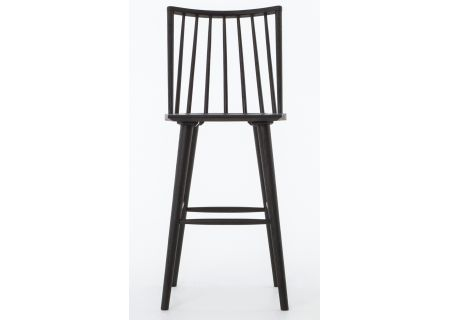Four Hands Belfast Collection Lewis Windsor Black Oak Bar Stool - VBFS-013