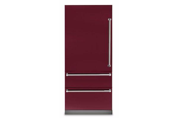 "Viking 36"" Professional 7 Series Burgundy Built-In Bottom-Freezer Refrigerator - VBI7360WLBU"