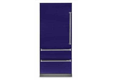 "Viking 36"" Professional 7 Series Cobalt Blue Built-In Bottom-Freezer Refrigerator - VBI7360WLCB"