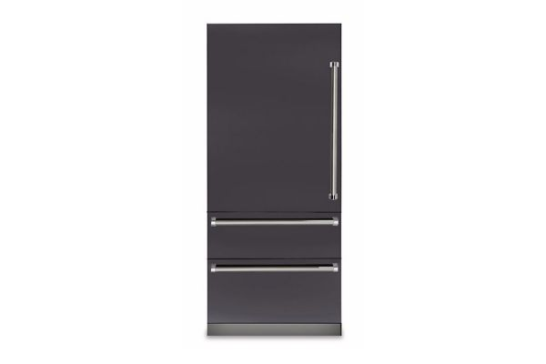 "Viking 36"" Professional 7 Series Graphite Gray Built-In Bottom-Freezer Refrigerator - VBI7360WLGG"