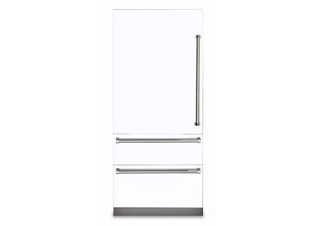 "Viking Professional 7 Series 36"" White Built-In Bottom-Freezer Refrigerator - VBI7360WLWH"