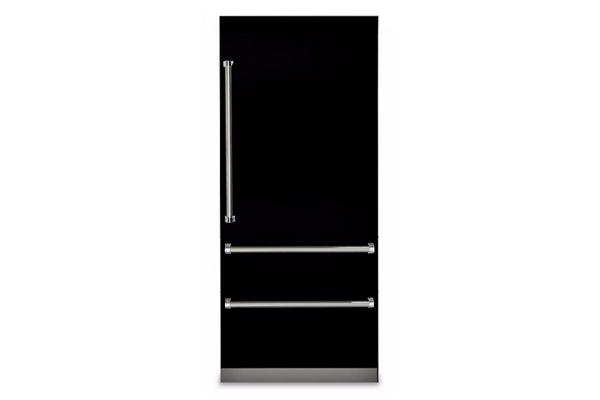 "Viking 36"" Professional 7 Series Black Built-In Bottom-Freezer Refrigerator - VBI7360WRBK"