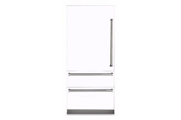 "Viking 36"" Professional 7 Series White Built-In Bottom-Freezer Refrigerator - VBI7360WRWH"