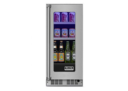 "Viking 15"" Stainless Steel Glass Door Beverage Center  - VBUI5150GRSS"