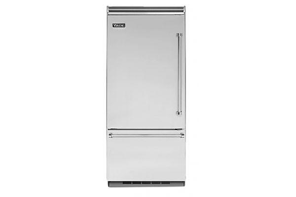 "Viking 36"" Professional 5 Series Stainless Steel Built-In Bottom Freezer Refrigerator - VCBB5363ELSS"