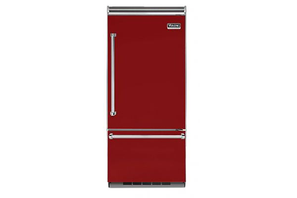"Viking 36"" Professional 5 Series Apple Red Built-In Bottom Freezer Refrigerator - VCBB5363ERAR"