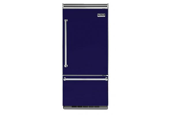 "Viking 36"" Professional 5 Series Cobalt Blue Built-In Bottom Freezer Refrigerator - VCBB5363ERCB"