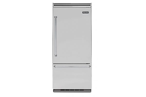 """Large image of Viking Quiet Cool 5 Series 36"""" Stainless Steel Right-Hinge Built-In Bottom-Freezer Refrigerator - VCBB5363ERSS"""