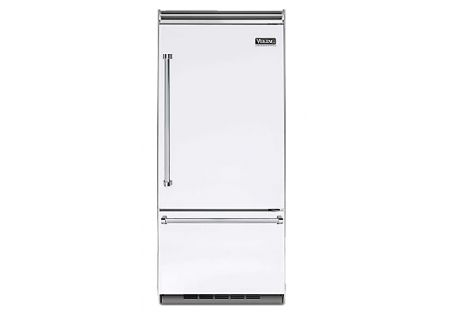 "Viking 36"" Professional 5 Series White Built-In Bottom Freezer Refrigerator - VCBB5363ERWH"