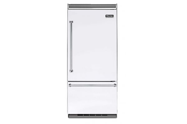"Large image of Viking Quiet Cool 5 Series 36"" White Right-Hinge Built-In Bottom-Freezer Refrigerator - VCBB5363ERWH"