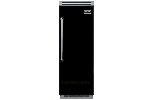 "Large image of Viking 5 Series QuietCool 30"" Black Right-Hinge Built-In All Refrigerator - VCRB5303RBK"