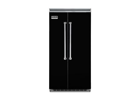 """Viking 42"""" Professional 5 Series Black Built-In Side-By-Side Refrigerator - VCSB5423BK"""