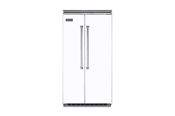 """Viking 42"""" Professional 5 Series White Built-In Side-By-Side Refrigerator - VCSB5423WH"""