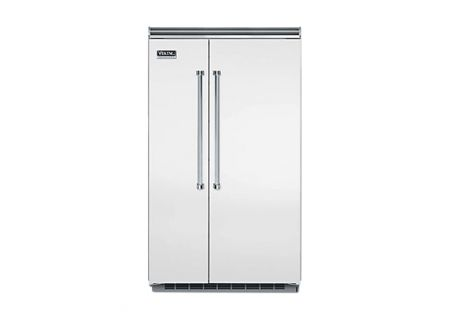 """Viking 48"""" Professional 5 Series Stainless Steel Built-In Side-By-Side Refrigerator - VCSB5483SS"""