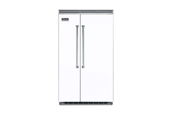 "Viking 48"" Professional 5 Series White Built-In Side-By-Side Refrigerator - VCSB5483WH"