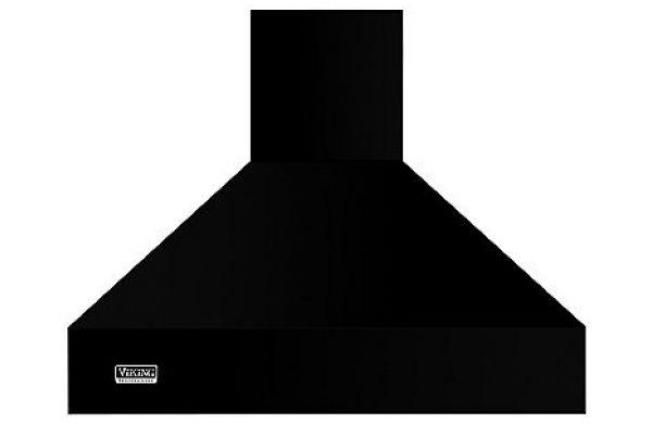 "Large image of Viking 48"" Professional 5 Series Black High Chimney Wall Hood - VCWH54848BK"