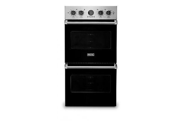 "Viking 27"" Professional 5 Series Black Premiere Double Wall Oven - VDOE527BK"