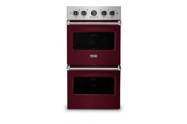 "Viking 27"" Professional 5 Series Burgundy Premiere Double Wall Oven - VDOE527BU"