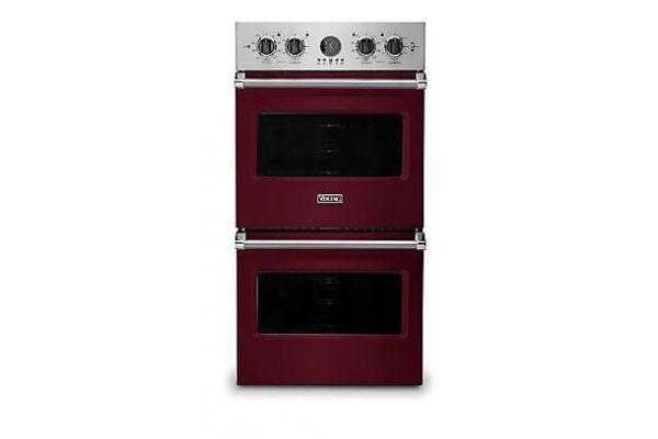 "Large image of Viking 27"" Professional 5 Series Burgundy Premiere Double Wall Oven - VDOE527BU"
