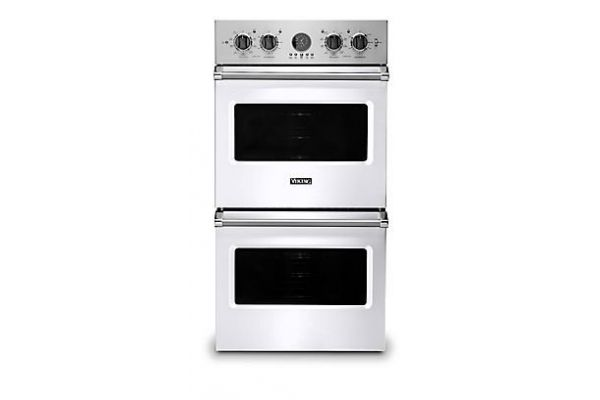 "Large image of Viking 27"" Professional 5 Series White Premiere Double Wall Oven - VDOE527WH"