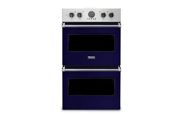 """Large image of Viking 30"""" Professional 5 Series Cobalt Blue Premiere Double Wall Oven - VDOE530CB"""