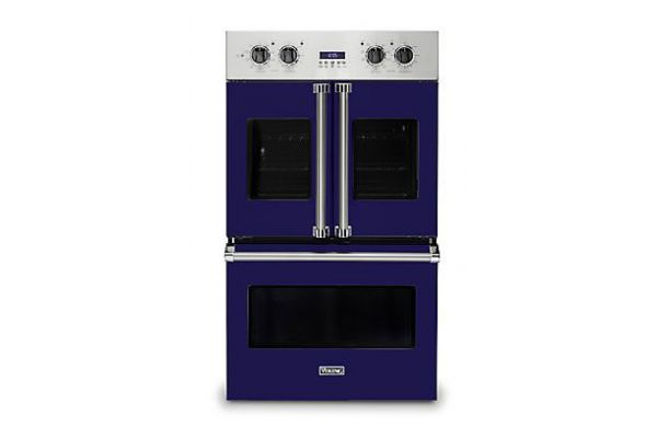 """Viking 30"""" Professional 7 Series Cobalt Blue French Door Double Wall Oven - VDOF7301CB"""