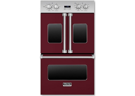 "Viking 30"" Professional 7 Series Burgandy Electric Double French-Door Wall Oven - VDOF730BU"