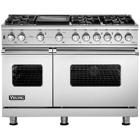 Viking 48 Stainless Dual Fuel Gas Range Vdsc5486gss