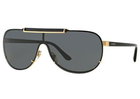 Versace Pilot Black Mens Sunglasses - VE2140 100287
