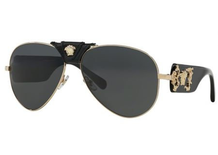 Versace Pilot Gold Mens Sunglasses - VE2150Q 100287
