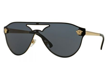 Versace Gold Pilot Womens Sunglasses - VE2161100287