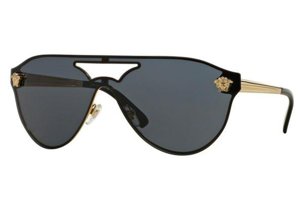 Large image of Versace Gold Pilot Womens Sunglasses - VE2161 100287