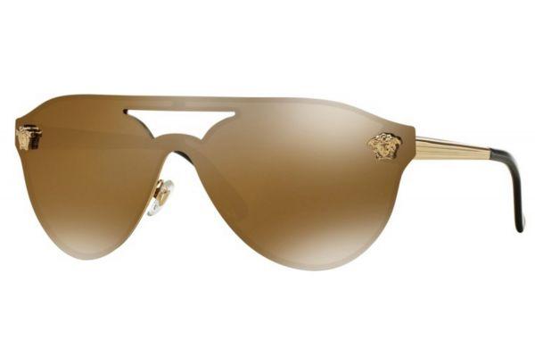 Large image of Versace Gold Pilot Womens Sunglasses - VE2161 1002F9