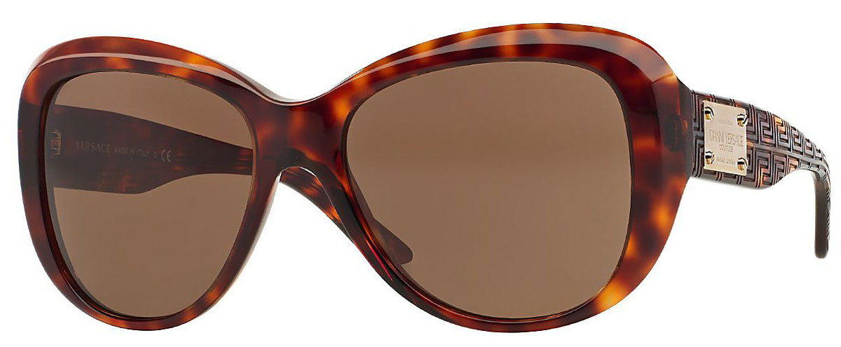 Versace Butterfly Havana Womens Sunglasses