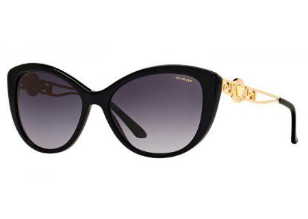 Versace Cat Eye Black Womens Sunglasses - VE4295 GB1/T3