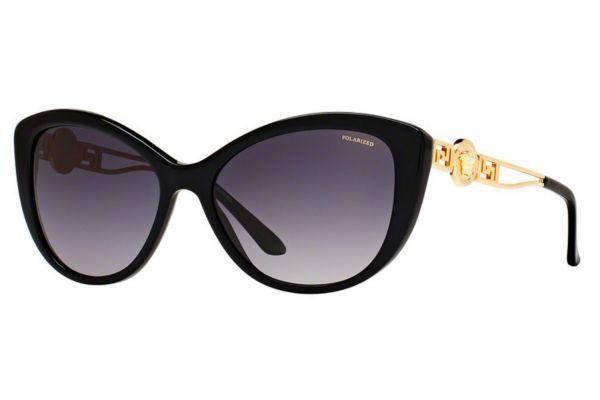 Large image of Versace Cat Eye Black Womens Sunglasses - VE4295 GB1/T3