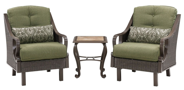 Hanover ventura 3pc chat patio set ventura3pc mdw for Outdoor furniture big w