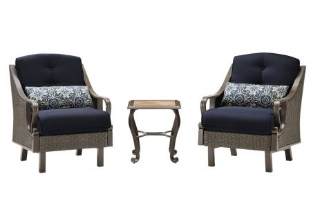 Hanover - VENTURA3PC-NVY - Patio Seating Sets