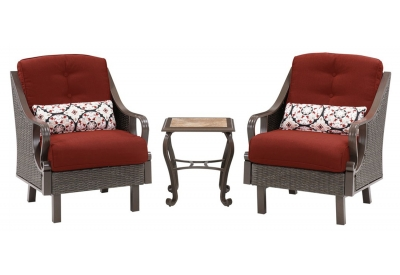 Hanover - VENTURA3PC-RED - Patio Furniture