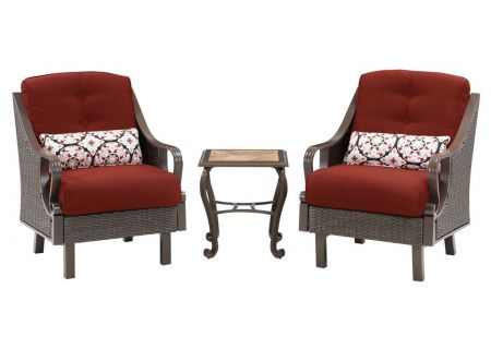 Hanover - VENTURA3PC-RED - Patio Seating Sets