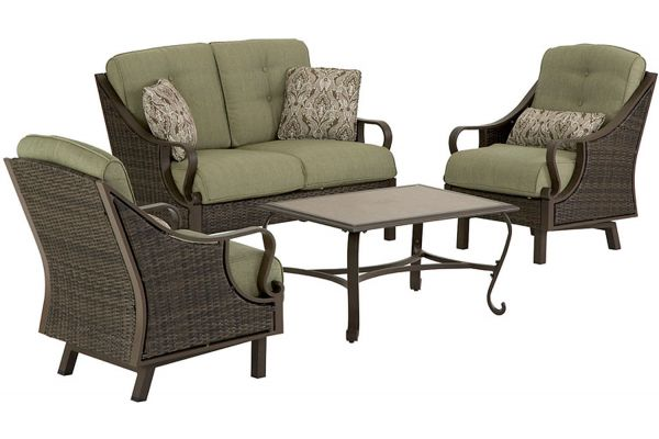 Hanover Ventura 4-Piece Outdoor Seating Patio Set - VENTURA4PC