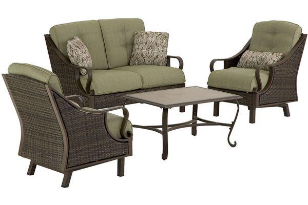 Large image of Hanover Ventura 4-Piece Outdoor Seating Patio Set - VENTURA4PC