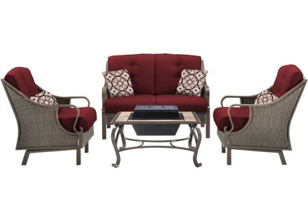 Hanover - VENTURA4PCFP-RED - Patio Seating Sets