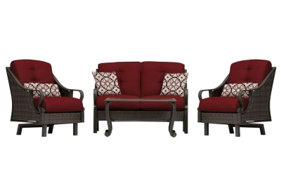 Hanover - VENTURA4PC-RED - Patio Seating Sets