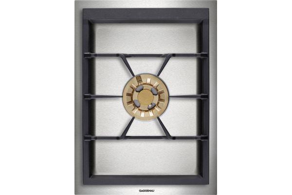 """Large image of Gaggenau Vario 400 Series 15"""" Stainless Steel Gas Wok Cooktop - VG415211CA"""