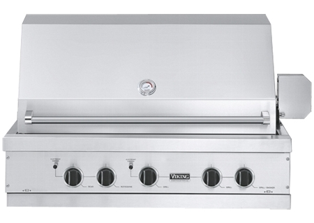 Viking ultra premium e series 41 natural gas built in for Viking built in grill