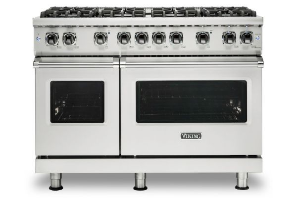 "Large image of Viking 48"" Professional 5 Series Stainless Steel Gas Range - VGR5488BSS"