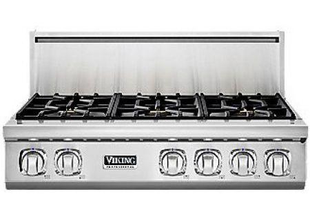 "Viking 7 Series 36"" Stainless Steel 6 Burner Gas Rangetop - VGRT7366BSS"
