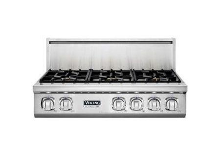 "Viking 36"" Professional 7 Series Stainless Steel Liquid Propane Rangetop - VGRT7366BSSLP"