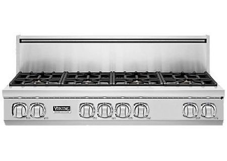 "Viking 7 Series 48"" Stainless Steel Gas Rangetop - VGRT748-8BSS"